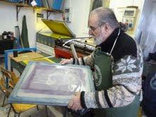 Il maestro serigrafo Giuseppe di Giangirolamo