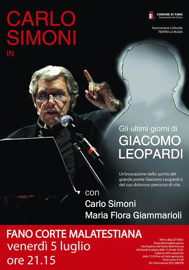 Carlo Simoni interpreta Leopardi