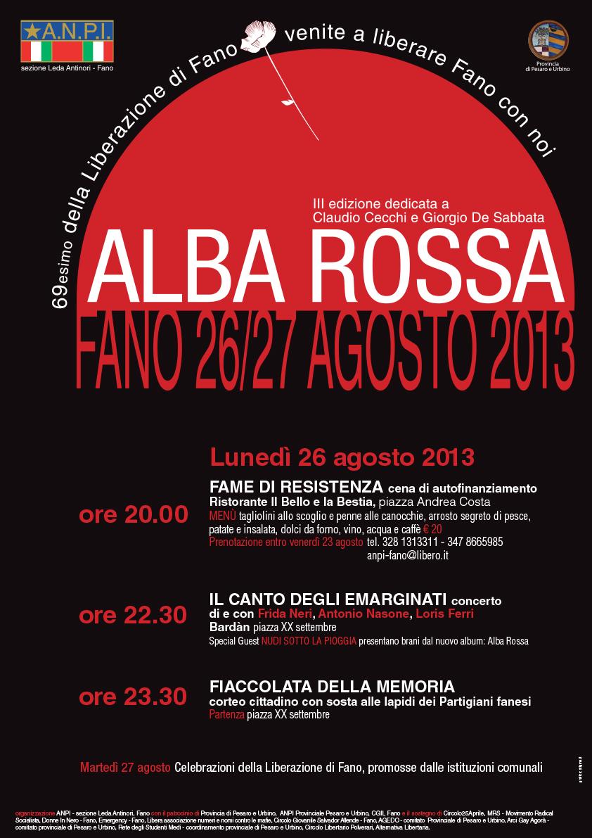 Alba Rossa: 69esimo della liberazione di Fano dal nazifascismo