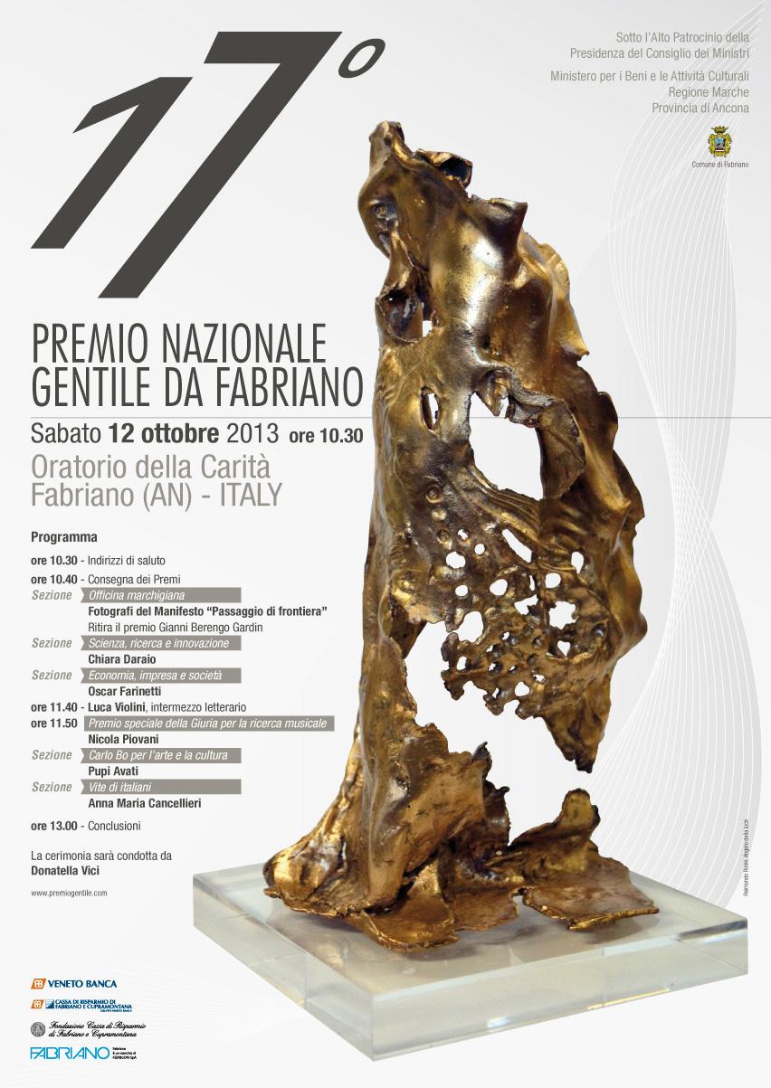 Premio Gentile 2013 - manifesto