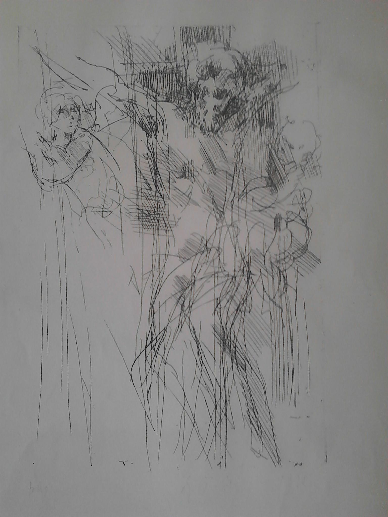 Raimondo Rossi - Cristo in croce attorniato dalle donne