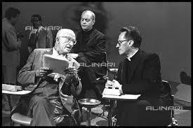 Al centro il filosofo Italo Mancini il giurista e storico Carlo Arturo Jemolo