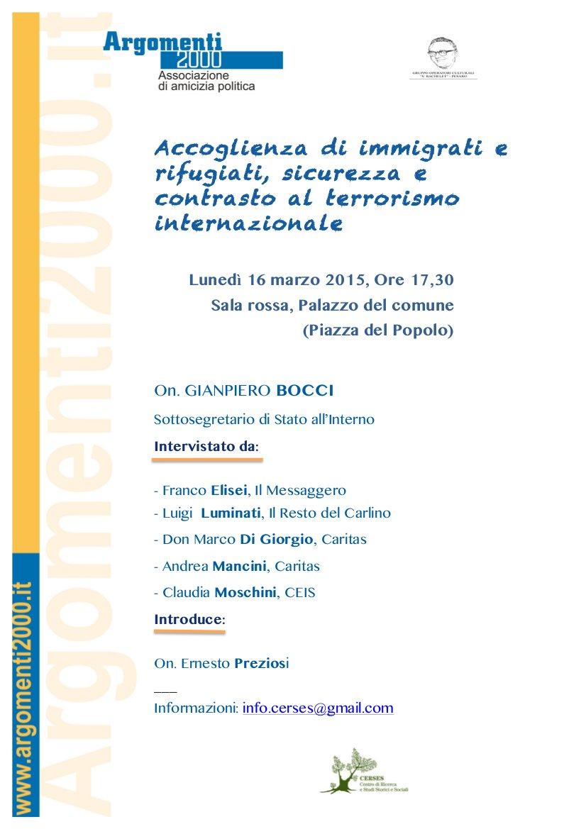 Pesaro 16 marzo 2015