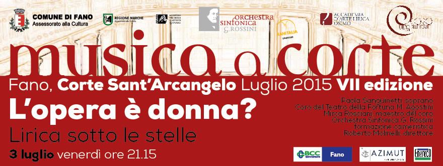 Musica a corte 2015 L'Opera è donna?