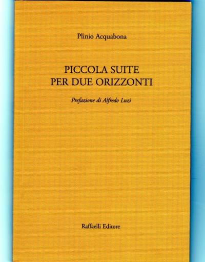 Piccola suite per due orizzonti poesia di Plinio Acquabona frontespizio