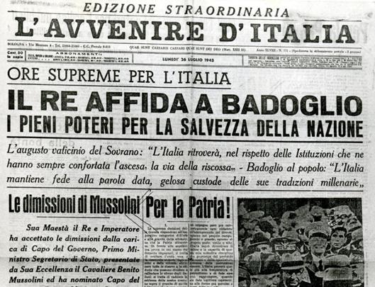 A settantanni dalla caduta del fascismo