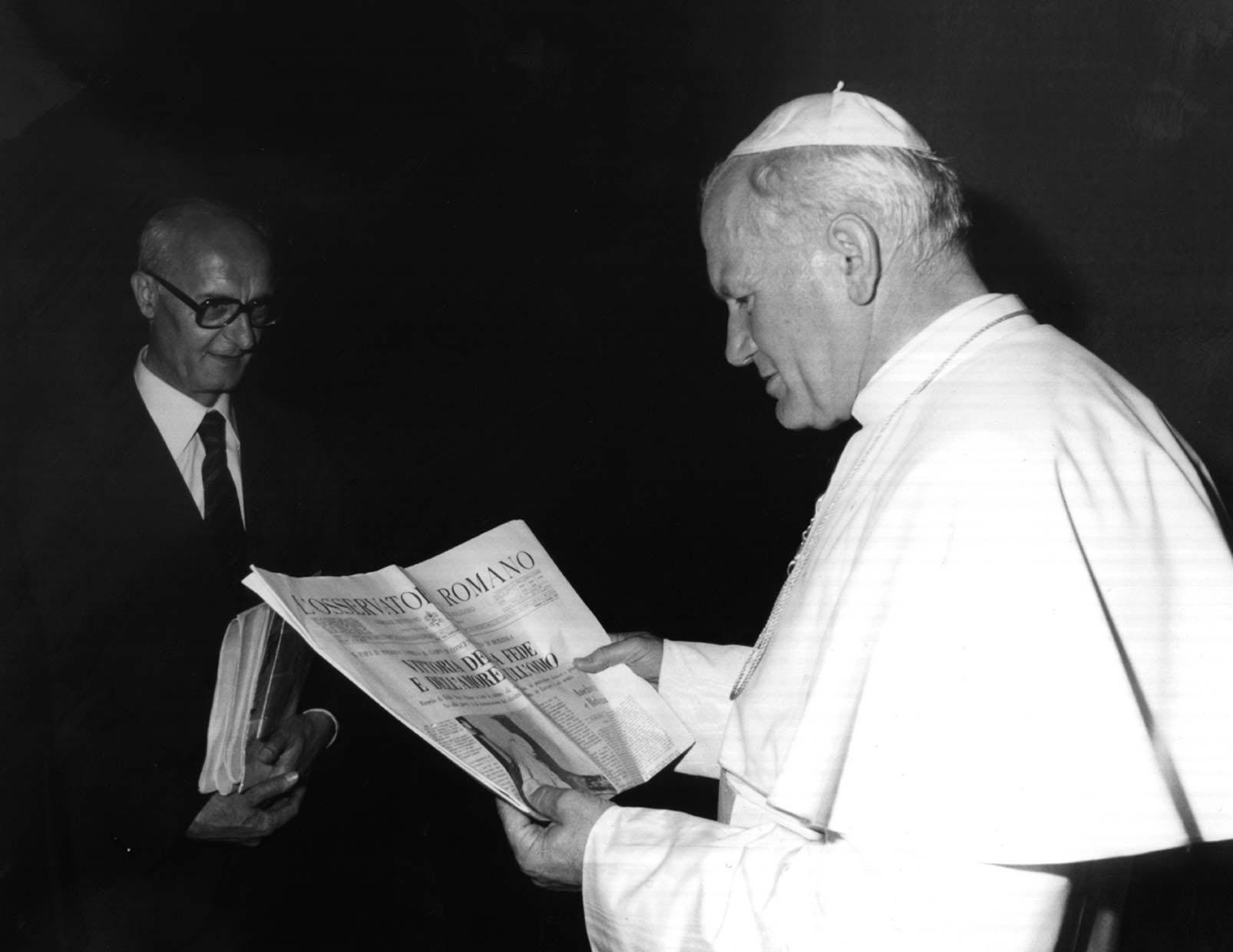 Giovanni Paolo II e Valerio Volpini