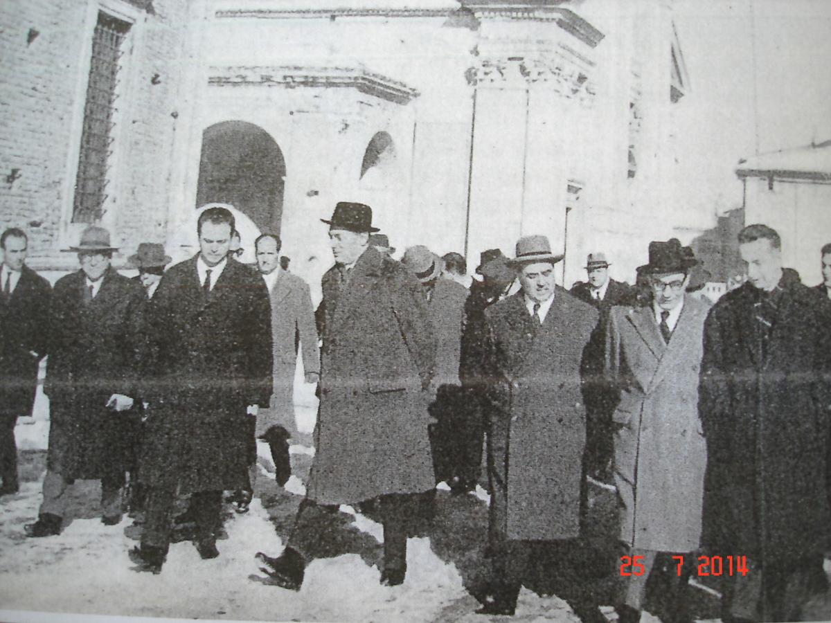 Mattei a Urbino con il ministro Bosco ed il Prefetto Schiavo