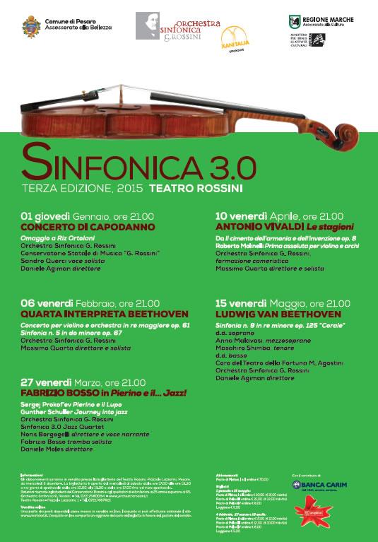 Sinfonica 3.0 - Edizione 2015 - Concerti Teatro Rossini