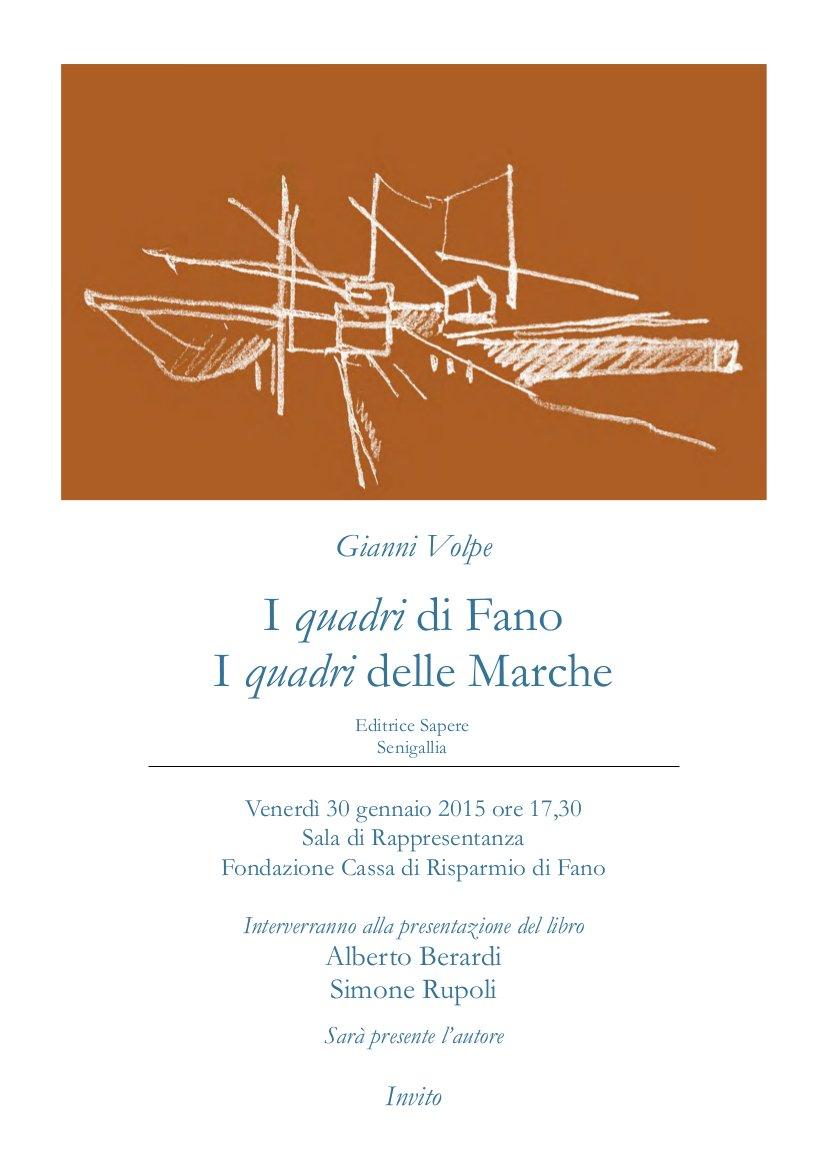 Gianni Volpe i quadri di Fano I quadri delle Marche