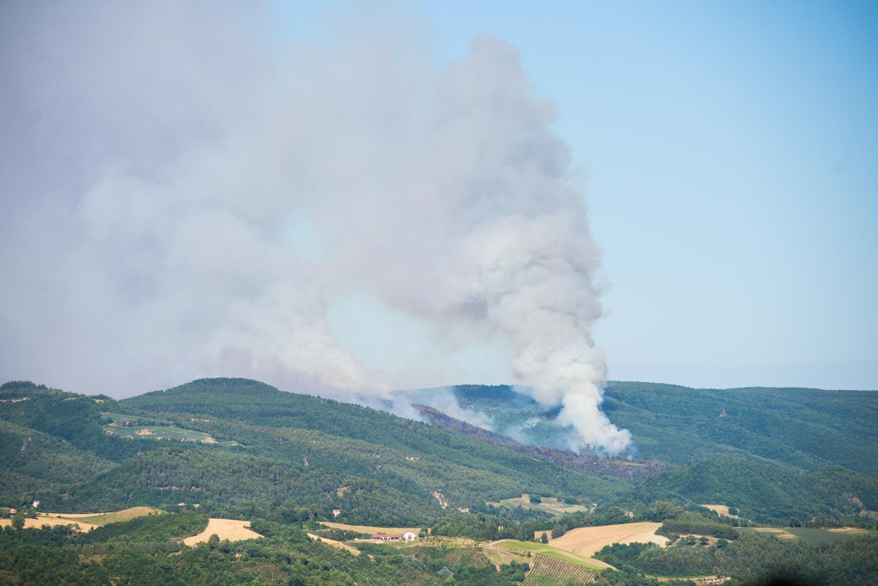 Cesane di Urbino canadair - 07072017 Foto di Donato Mosci